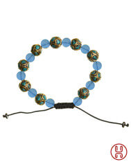 Viking Bracelet with Mosaic Stones Blue 3