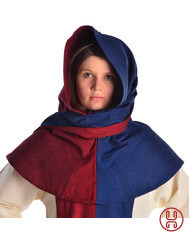 Medieval Hood with Liripipe two-colored