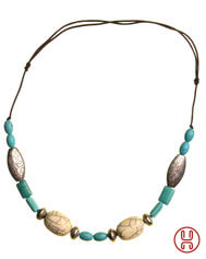 Medieval Viking Necklace Resin turquoise 3