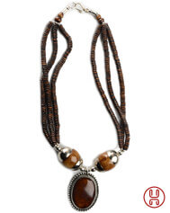 Necklace Beda brown