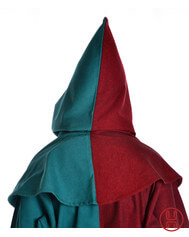 Mittelalter Kapuze aus Baumwolle in schwarz, gruen, braun, blau, natur-beige und rot