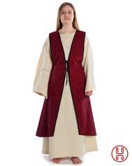 Mittelalter Überkleid vorn zum Schnüren in grün, blau und rot