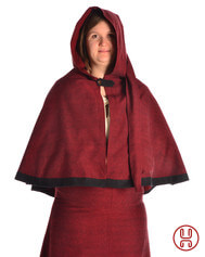 Medieval Hood with Liripipe and medium cape