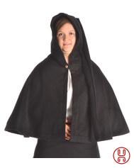 Medieval Hood with Liripipe and medium cape Felt