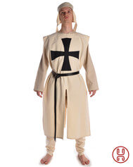 Medieval Tabard beige with black cross
