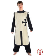 Medieval Short Tabard with Templar cross