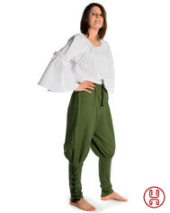 Women´s trousers with strings - Viking style offwhite, black, brown and olive-green