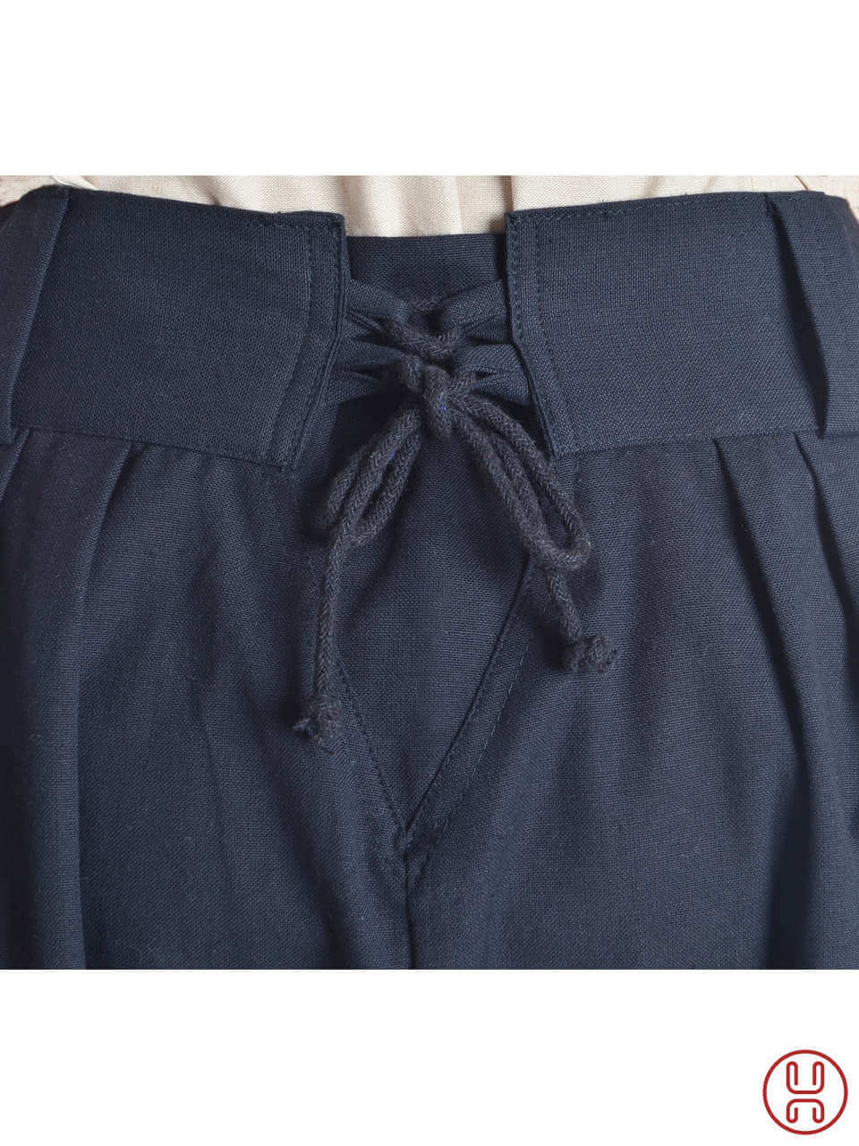 Medieval Viking trousers with strings - short