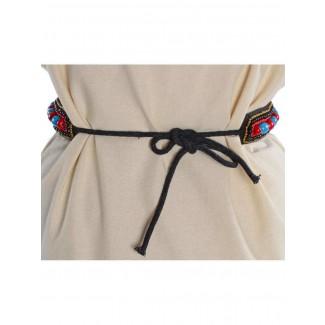 Mittelalter Gürtel Itonje aus Baumwolle in Rot Rückansicht
