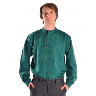 Mittelalter Hemd Erec in Grün Frontansicht 2