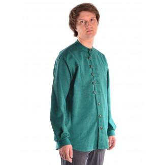 Mittelalter Hemd Erec in Grün Seitenansicht