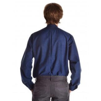 Mittelalter Hemd Orilus in Blau Rückansicht