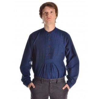 Mittelalter Hemd Orilus in Blau Frontansicht