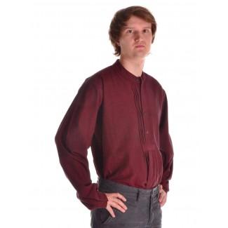 Mittelalter Hemd Orilus in Rot Seitenansicht