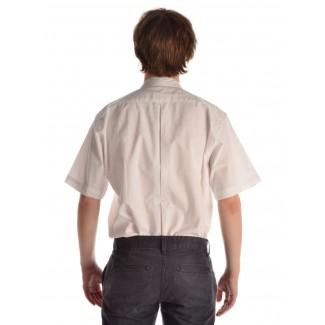 Mittelalter Hemd Feirefiz Kurzarm in Weiß Rückansicht