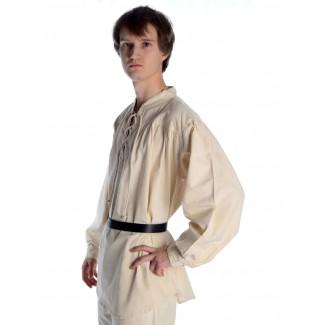 Mittelalter Schnürhemd Artus in Beige Seitenansicht