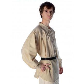 Mittelalter Schnürhemd Artus in Beige Seitenansicht 2