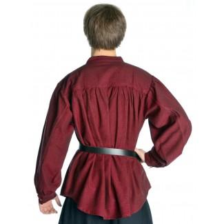 Mittelalter Schnürhemd Artus in Rot Rückansicht