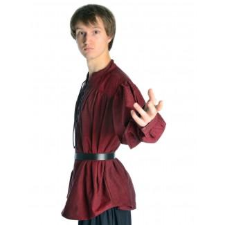 Mittelalter Schnürhemd Artus in Rot Seitenansicht
