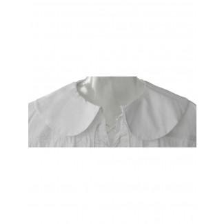 Musketier Schnürhemd Ither in Weiß Detailansicht