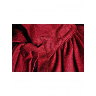 Mittelalter Umhang Wolfdietrich in Rot Detailansicht