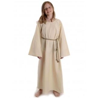 Mittelalter Kindekleid Isaza in Beige Frontansicht