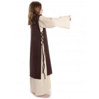 Mittelalter Kinderkleid Alyze (Set) in Beige-Braun Seitenansicht