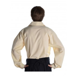 Mittelalter Schnürhemd Askalon in Beige Rückansicht