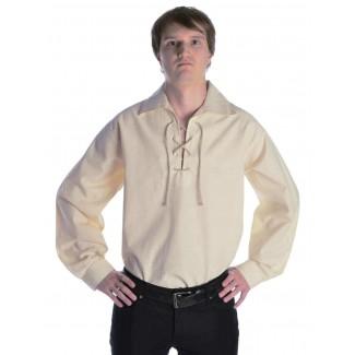Mittelalter Schnürhemd Askalon in Beige Seitenansicht