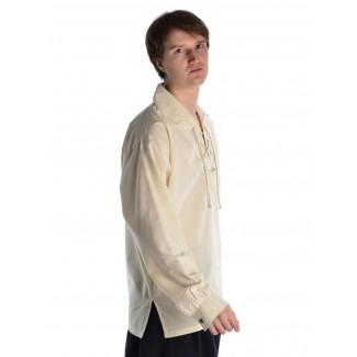 Mittelalter Schnürhemd Askalon in Beige Seitenansicht 2