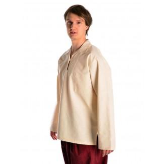 Korsaren Hemd Kaylet in Beige Seitenansicht