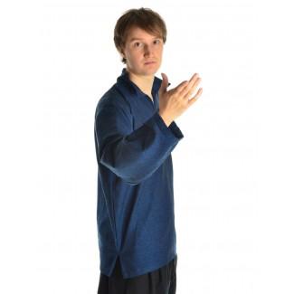 Korsaren Hemd Kaylet in Blau Seitenansicht 2