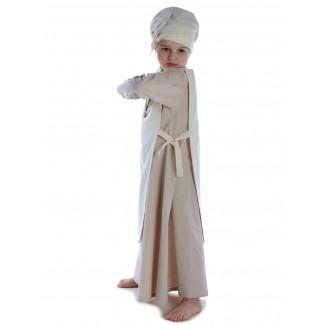 Mittelalter Kinderskapulier Svafa in Beige Seitenansicht