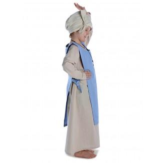 Mittelalter Kinderskapulier Svafa in Hellblau Seitenansicht