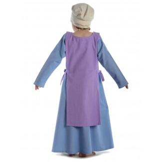 Mittelalter Kinderskapulier Svafa in Violett Rückansicht
