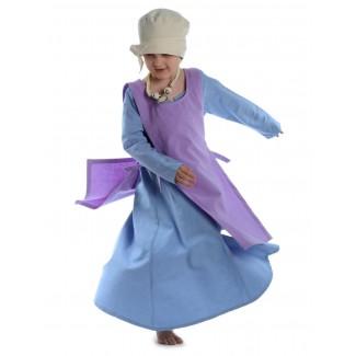 Mittelalter Kinderskapulier Svafa in Violett Frontansicht 2