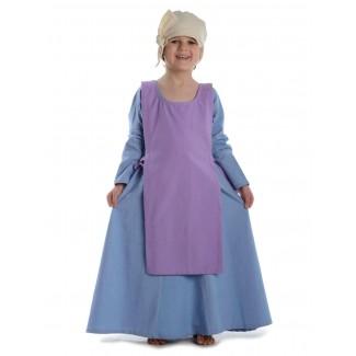 Mittelalter Kinderskapulier Svafa in Violett Frontansicht 3