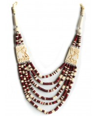 Pearl Necklace Duzisamor red-white
