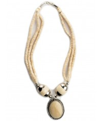 Necklace Beda beige