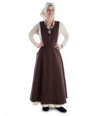 Mittelalter Überkleid in weiss, braun und grün