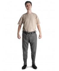 Wikinger Thorsberghose Hugin in Grau Frontansicht