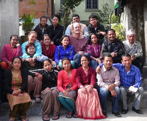 Staff picture of our tailoring in Nepal